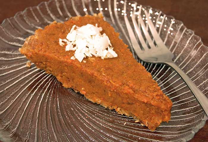Raw Pumpkin Pie.. its a Dream Come True!