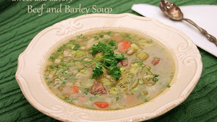 Sweet and Savory Beef and Barley Soup