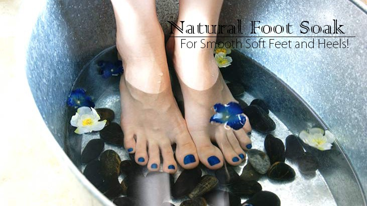 Natural Foot Soak for Soft Feet