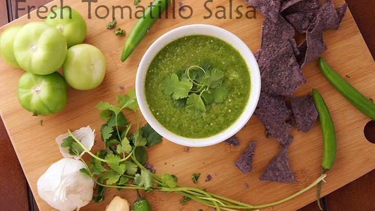 Delicious Fresh Tomatillo Salsa