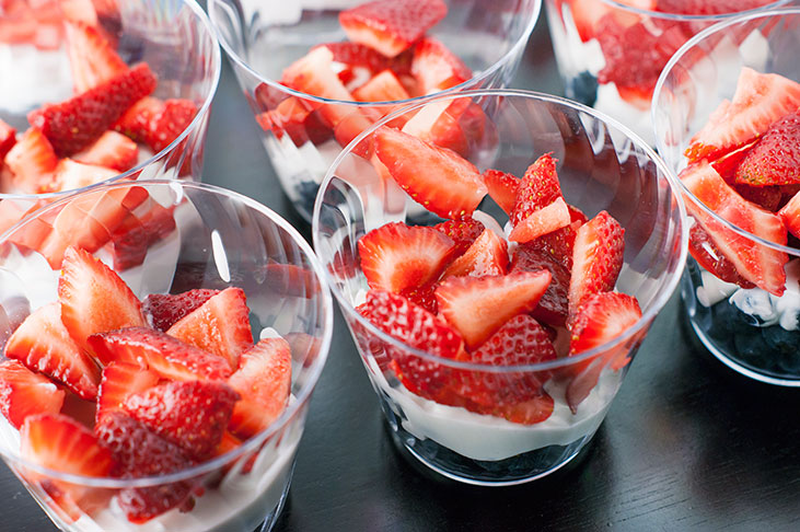 Red, White and Blue Berry Cups