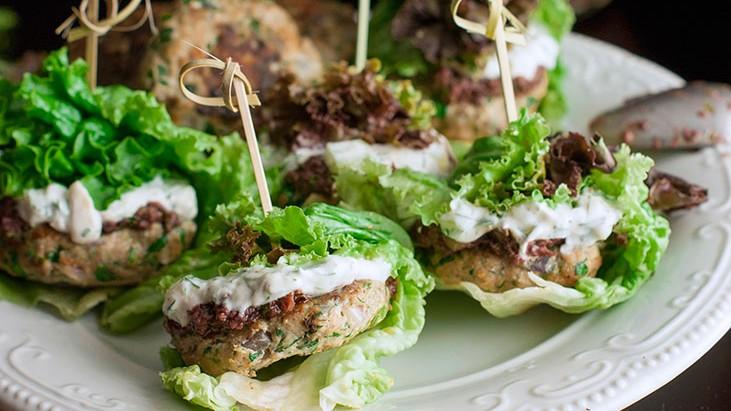 Healthy Lettuce Wrapped Turkey Sliders