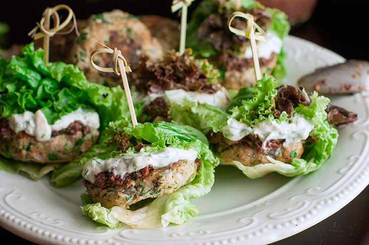Healthy Lettuce Wrapped Turkey Sliders