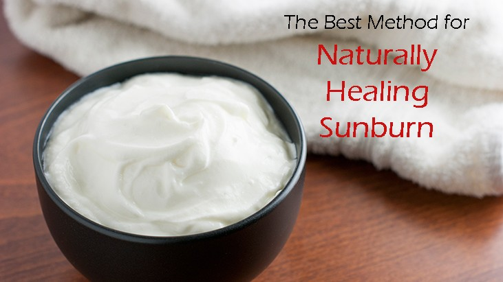 Naturally Heal Sunburn with….Yogurt