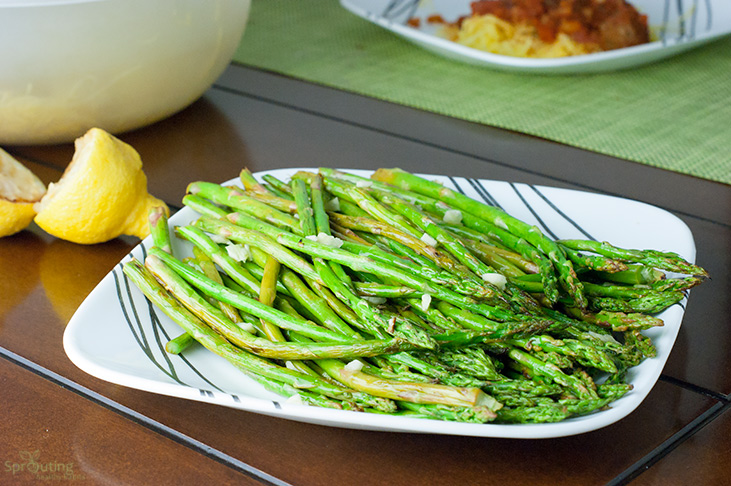 Simple Grilled Asparagus with Lemon Garlic Dressing