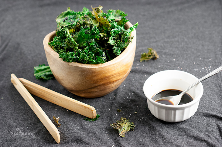 Sherry Vinegar Glazed Kale Chips